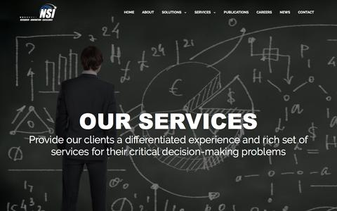 Screenshot of Services Page nsiteam.com - SERVICES | NSI - captured Feb. 15, 2016