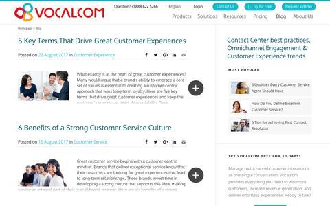 Screenshot of Blog vocalcom.com - Contact Center Blog - Tips, Resources, Guides and Articles - Page 9 - captured Jan. 14, 2019