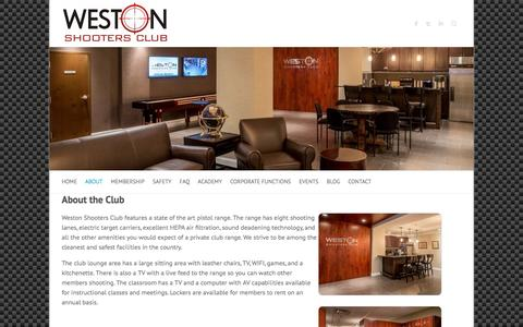 Screenshot of About Page westonshootersclub.com - About the Club – Weston Shooters Club - captured Dec. 21, 2016