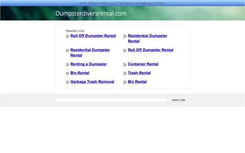 Dumpsterdiversrental.com