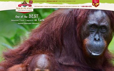 Screenshot of Home Page wildplanetadventures.com - Wild Planet Adventures - captured Sept. 30, 2014