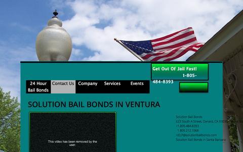 Screenshot of Contact Page solutionbailbonds.com - Contact Us Now For A Free Bail Bond Consultation! - captured Feb. 26, 2016