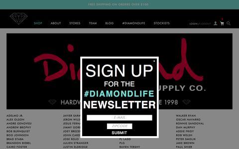Screenshot of Team Page diamondsupplyco.com - Team / Diamond Supply Co. - captured Nov. 23, 2015