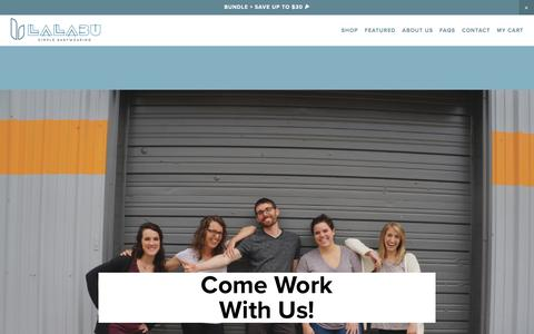 Screenshot of Jobs Page lalabu.com - Join Our Team! - Lalabu - captured July 13, 2017