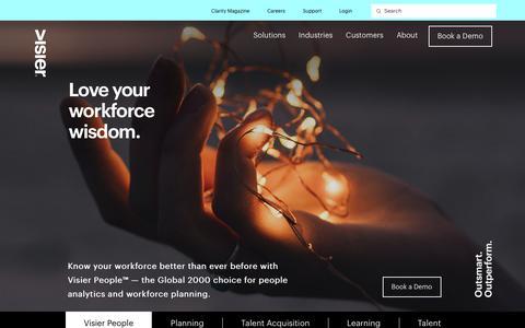 Leading People Analytics & Workforce Planning Solution - Viser People