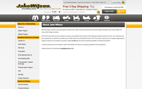 Screenshot of About Page jakewilson.com - About Us - Jake Wilson - captured Sept. 23, 2014