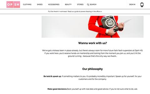 Screenshot of Jobs Page opsh.com - Careers | Opsh | The Future of Online Shopping for Women  - Opsh - captured Nov. 23, 2015