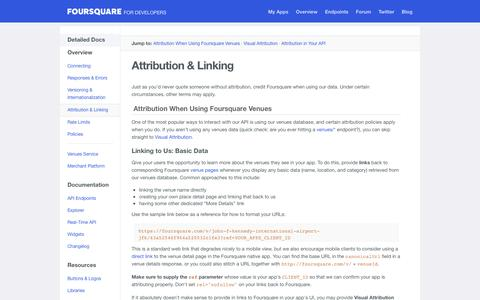 Attribution & Linking