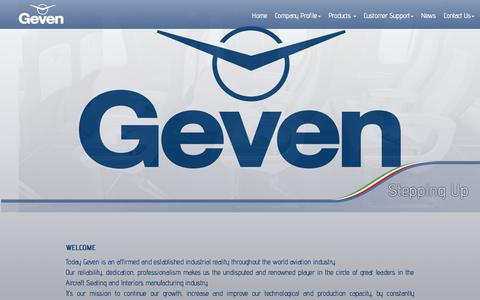 Screenshot of Home Page geven.com - Home - captured July 17, 2015