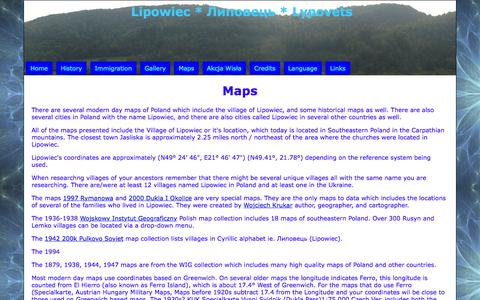 Screenshot of Maps & Directions Page lipowiec.org - Lipowiec - captured May 23, 2016