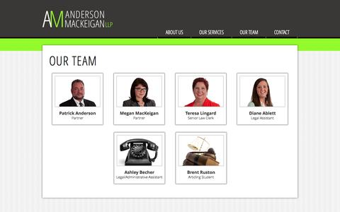 Screenshot of Team Page andersonmackeigan.com - Anderson MacKeigan LLP | About Us - captured Oct. 4, 2014