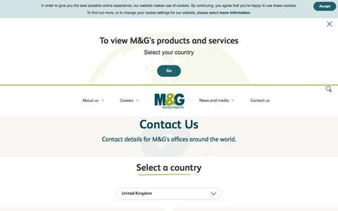 Getting in Touch With M&G | Contact Us | M&G Investments