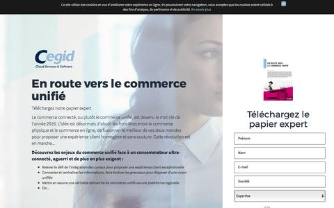Screenshot of Landing Page cegid.com - Papier Expert En route vers le Commerce Unifié - captured Oct. 4, 2017