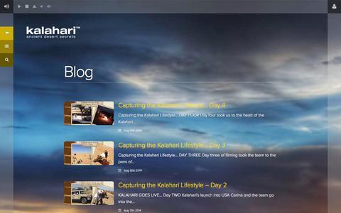 Screenshot of Blog kalaharilifestyle.com - Blog - Kalahari - captured Sept. 30, 2014