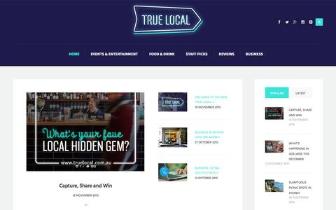 Screenshot of Blog truelocal.com.au - Blog Home   True Local Blog - captured Dec. 2, 2015