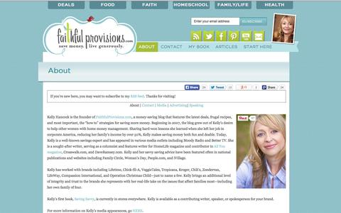 Screenshot of About Page faithfulprovisions.com - About - Faithful Provisions - captured Sept. 25, 2014