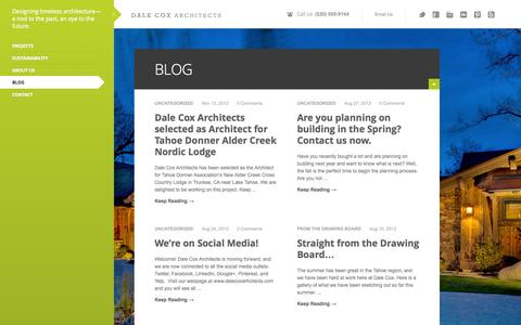 Screenshot of Blog dalecoxarchitects.com - Blog | Dale Cox Architects - captured Sept. 30, 2014