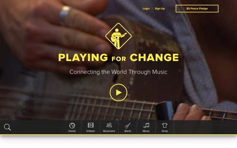 Screenshot of Home Page playingforchange.com - Playing for Change - captured Dec. 9, 2015