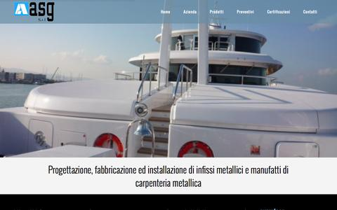Screenshot of Home Page asg-srl.it - A.S.G srl Carpenteria Metallica Ancona | - captured Oct. 13, 2015