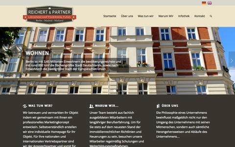 Screenshot of Home Page reupa.com - Reichert & Partner   Liegenschaftsverwaltung - captured Jan. 22, 2015