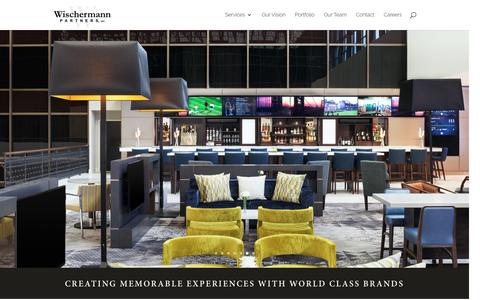 Screenshot of Home Page wischermannpartners.com - Wischermann Partners, Inc. | Creating Memorable Experiences With World Class Brands - captured Nov. 30, 2016