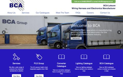Screenshot of Home Page bcagroup.co.uk - Home - BCA Group - captured Oct. 4, 2018