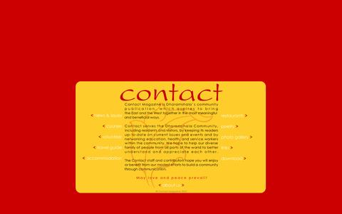 Screenshot of Home Page contactmag.org - Contact - free monthly mag for D'shala & McLeod Ganj. - captured May 14, 2016