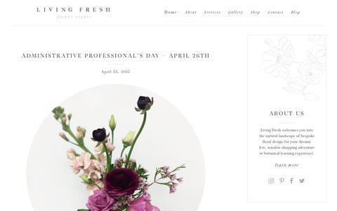 Screenshot of Blog livingfresh.ca - Blog   Living Fresh - captured Aug. 20, 2017