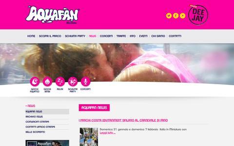 Screenshot of Press Page aquafan.it - Eventi - captured Feb. 6, 2016