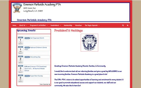Screenshot of Blog emersonpta.com - President's Message | Emerson Parkside Academy PTA - captured Jan. 31, 2017