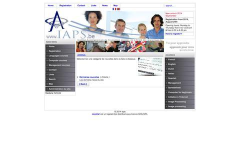 Screenshot of Press Page iaps.be - iaps - captured Sept. 30, 2014