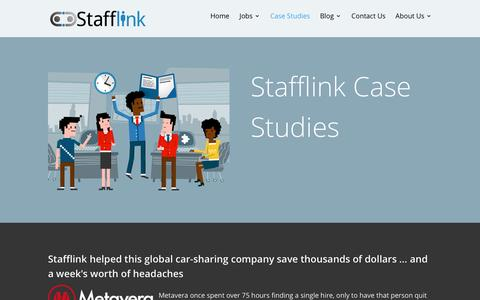 Screenshot of Case Studies Page stafflink.ca - Case Studies: Helping Businesses Hire the Right People Quickly and Efficiently | Stafflink Solutions IT Staffing Company - captured Feb. 10, 2016