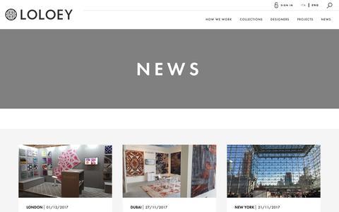 Screenshot of Press Page loloey.com - News | Loloey - captured Sept. 30, 2018