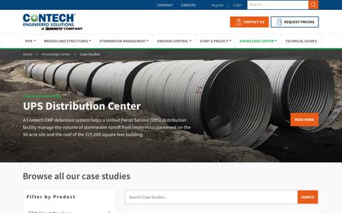 Screenshot of Case Studies Page conteches.com - Case Study Library - Contech Engineered Solutions - captured Dec. 21, 2018