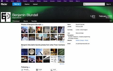 Screenshot of Flickr Page flickr.com - Flickr: Benjamin Blundell - captured Oct. 26, 2014
