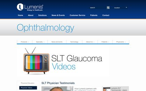 SLT Glaucoma - Lumenis SLT User's Experience