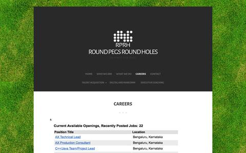 Screenshot of Jobs Page rprh.in - Careers - Round Pegs Round Holes - captured Feb. 15, 2016
