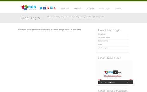 Screenshot of Login Page rgbx.com - Client Login - RGB Technologies - captured Oct. 1, 2014