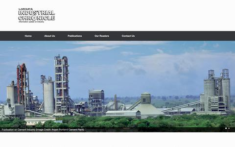 Screenshot of Home Page industrialchronicle.com - Publications on Indian Cement Industry, Energy Conservation, Power - captured June 7, 2017