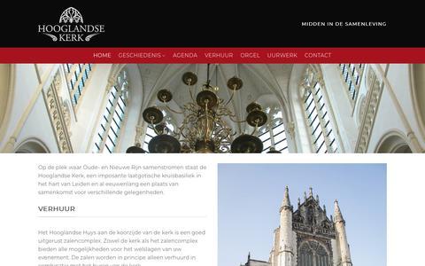 Screenshot of Home Page hooglandsekerk.com - Home - Hooglandse Kerk - captured Sept. 29, 2018
