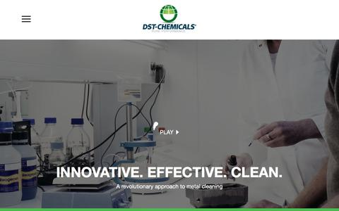 Screenshot of Home Page dstchemicals.com - A revolutionary approach to metal cleaning -DST-Chemicals - captured Jan. 5, 2018