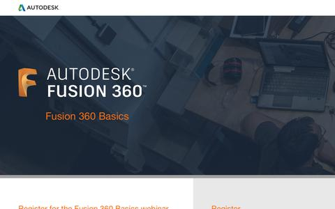 Screenshot of Landing Page autodesk.com - Fusion 360 event - captured Sept. 22, 2018