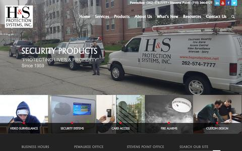 Screenshot of Products Page hsprotection.net - Security Products • H&S Protection Systems, Inc. - captured Sept. 25, 2018