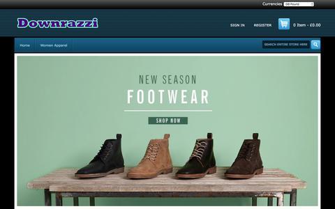 Screenshot of Home Page downrazzi.com - Apparel,Briefs,T-Shirts,Shorts,Sensible Choice - Large discount,downrazzi.com - captured Sept. 22, 2018