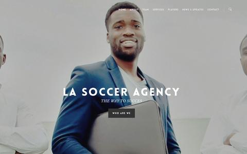 Screenshot of Home Page lasocceragency.com - LA Soccer Agency - captured May 11, 2017