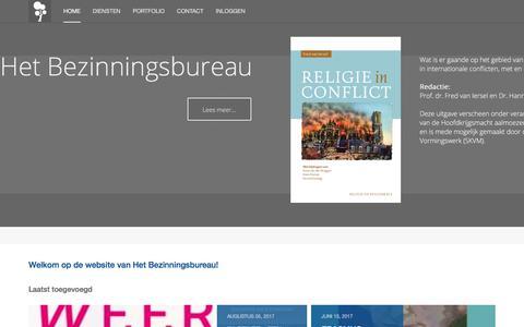 Screenshot of Home Page bezinningsbureau.nl - Home - captured Aug. 6, 2017