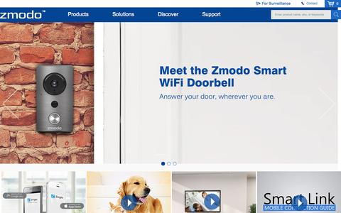 Screenshot of Home Page zmodo.com - ZMODO - Global Provider Of Smart Devices - captured Aug. 5, 2015