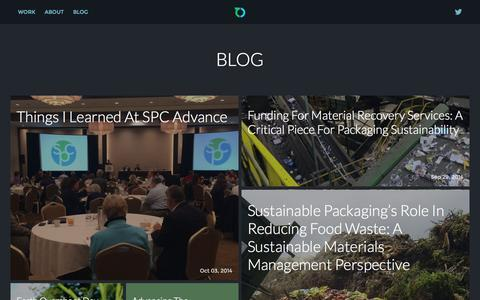 Screenshot of Blog greenblue.org - Blog | GreenBlue | Helping people use wisely, eliminate toxicity & recover more - captured Oct. 3, 2014