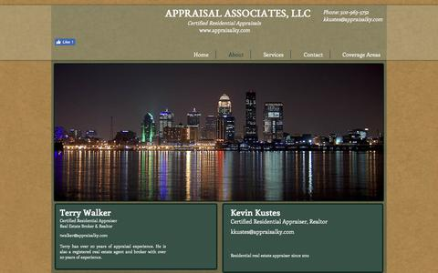 Screenshot of About Page appraisalky.com - Louisville Appraiser Louisville Appraisal  | About - captured Oct. 8, 2017