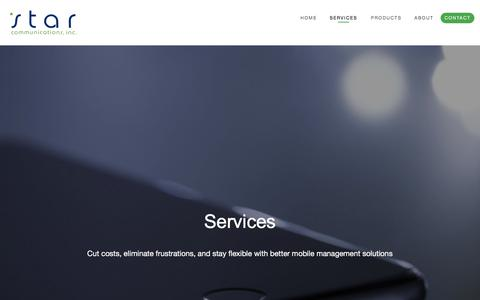 Screenshot of Services Page starcomm.com - Star Communications, Inc. - captured Oct. 24, 2017